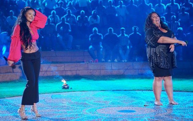 Emilija Mihailova und Janina El Arguioui bei DSDS am 7.4.2018