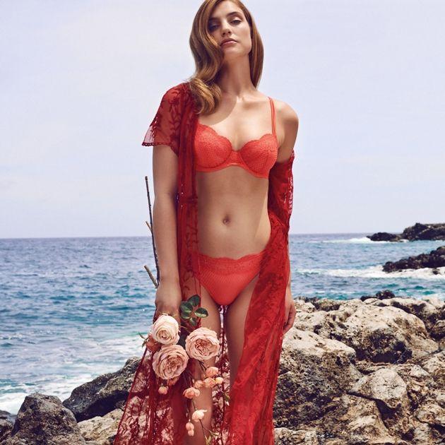 Lingerie Marie Jo Nori Farbe Pampelmousse Mode Frühjahr Sommer 2018