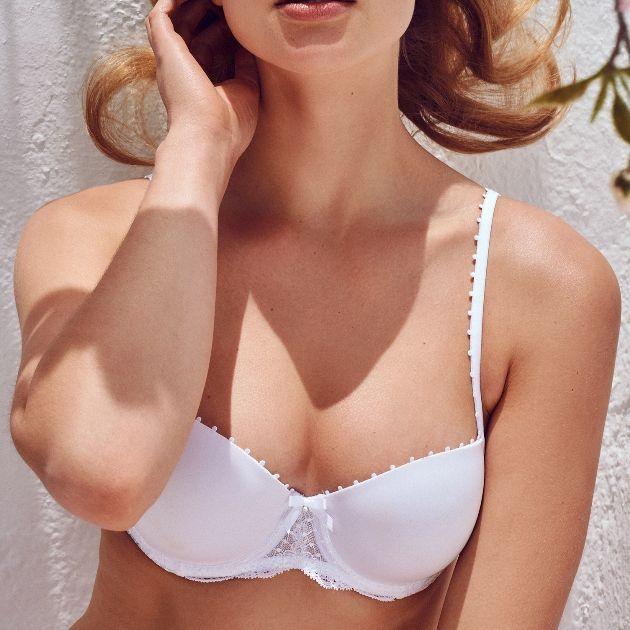 reizender BH Marie Jo Pearl White Mode Frühjahr Sommer 2018
