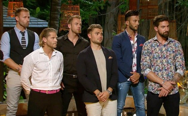 Nacht der Rosen - Bachelor in Paradise am 23.5.2018 - alle Kandidaten - Christian, Paul, Philipp, Johannes, Domenico und Sebastian