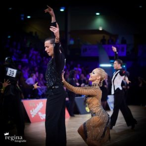 Tanzsport EM Latein 2018 der WDSF Amateure in Debrecen (Ungarn) - hier Europameister Latein 2018 Armen Tsaturyan - Svetlana Gudyno