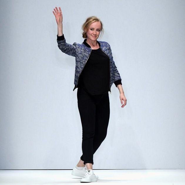 Designerin Irene Luft auf der MBFW zur Fashion Week Berlin im Juli 2018
