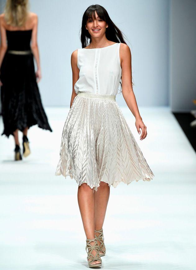 Modefarbe Weiss Sommer 2019 von Maisonnoee zur MBFW auf der Fashion Week Berlin