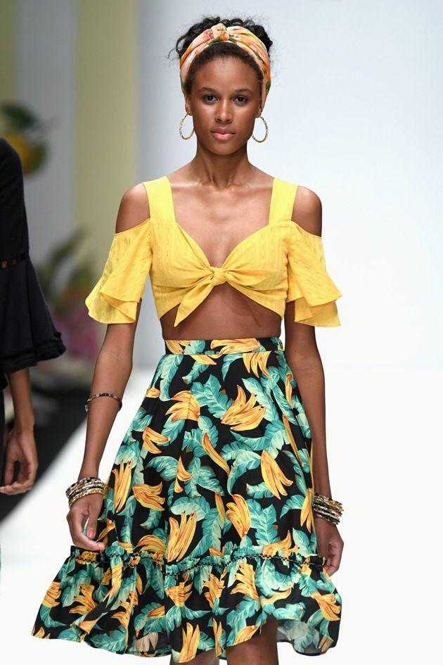Sommer-Rock von Lena Hoschek Frühjahr-Sommer-Mode 2019 MBFW zur Fashion Week Berlin - 04