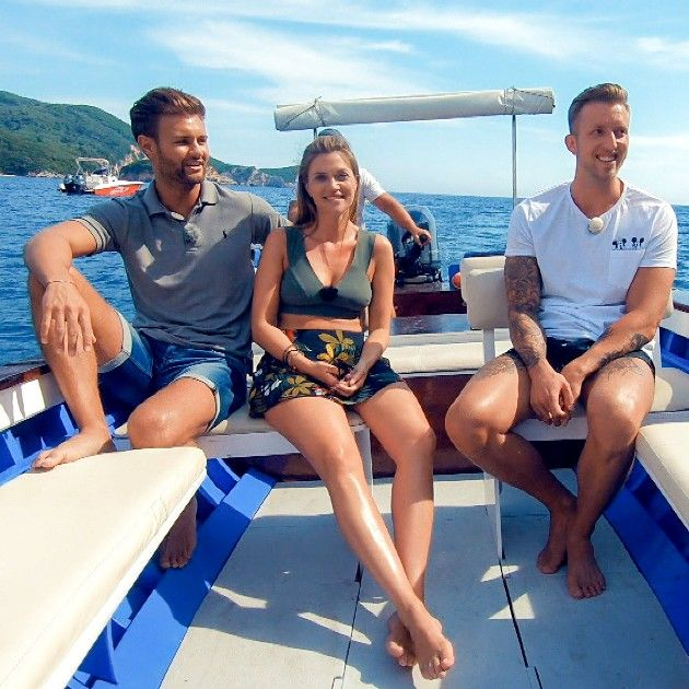 Daniel, Nadine, Chris beim Doppel-Date Bachelorette am 8.8 ...