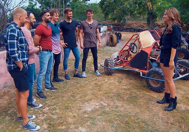 Filip, Jorgo, Rafi, Eddy, Daniel, Maxim und Nadine beim Gruppen-Date am 1.8.2018