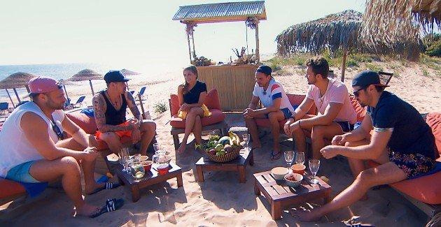 Kevin, Brian, Nadine, Sören, Dennis und Stefan beim Gruppen-Date am 1.8.2018