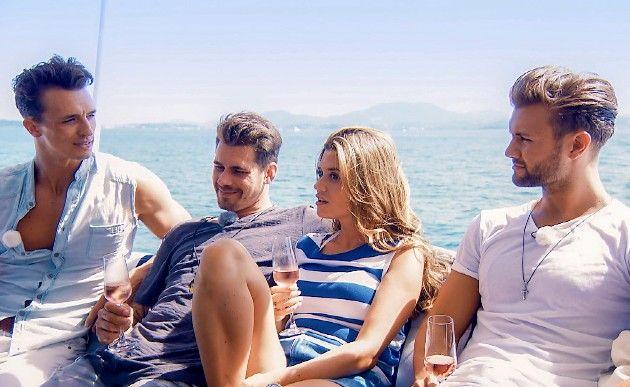 Maxim, Brian, Nadine, Daniel beim Segeln Bachelorette 22.8.2018