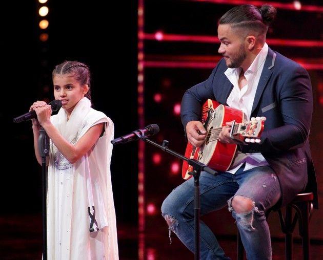 Adriana Rahel Brandt und ihr Vater Raimund beim Supertalent am 29.9.2018