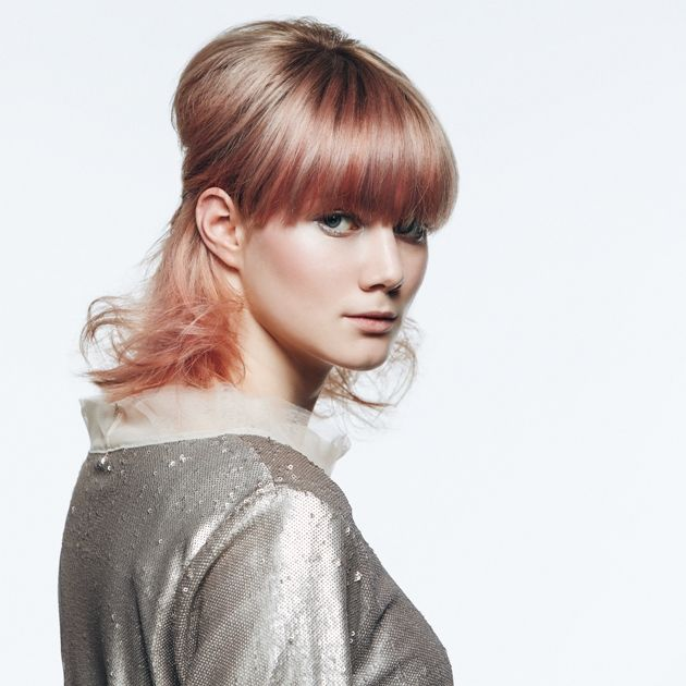 Half-up-Look mit Pony Frisuren Herbst 2018 - Winter 2019