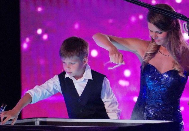 Kateryna Tarasenko und Sohn Daniel beim Supertalent am 22.9.2018