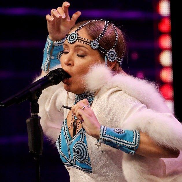 Olena Podluzhnaia beim Supertalent 2018 am 15.9.2018