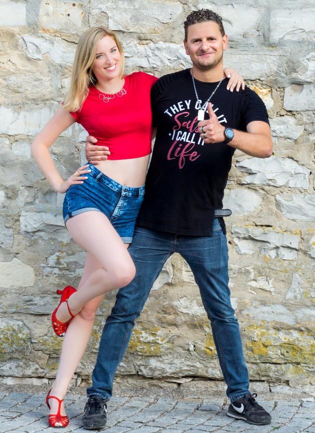 Salsa-Tanzlehrer Susanne Kirsch undTobias Bartl in Neumarkt