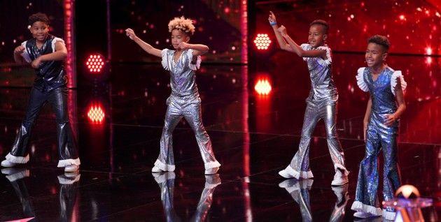 Zaki, Zinedine, Eliyah und Joshua als The Fletchers beim Supertalent am 22.9.2018