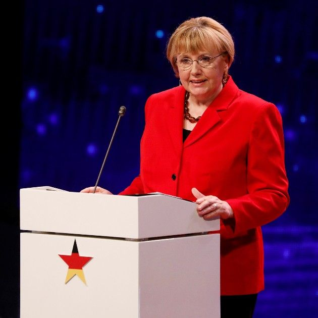 Angela Merkel - Double beim Supertalent am 6.10.2018