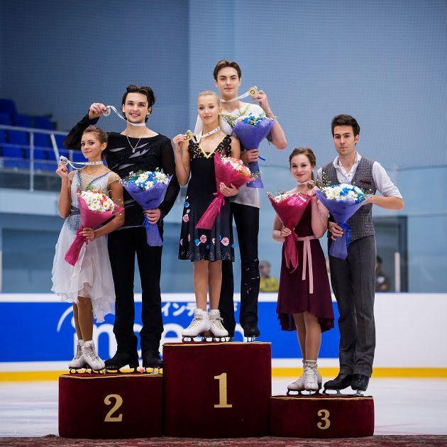 Maria Kazakova - Georgy Reviya, Arina Ushakova - Maxim_Nekrasov, Ellie Fisher - Simon-Pierre Malette-Paquette -Junior Grand Prix Jerewan 2018