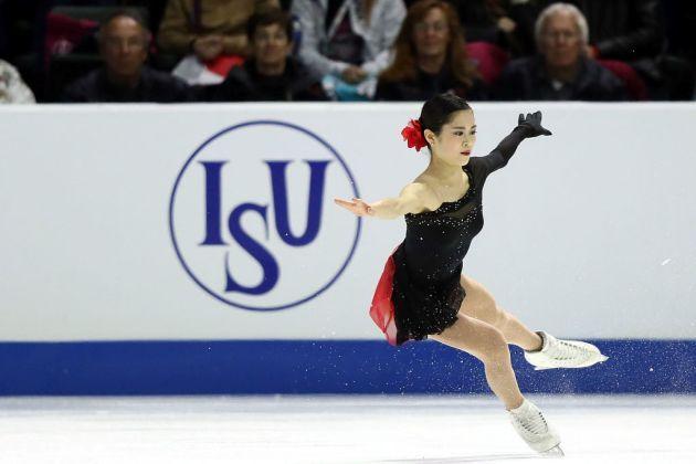 Satoko Miyahara bei Skate America 2018