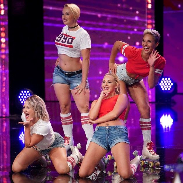 Wacky Skaters beim Supertalent am 6.10.2018