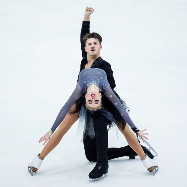 Alexandra Stepanova - Ivan Bukin im Kurzprogramm Eiskunstlauf-Saison 2018-2019