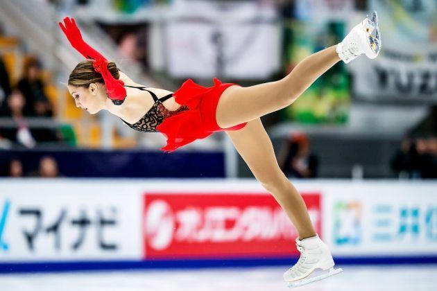 Alexia Paganini aus der Schweiz Kurzprogramm Eiskunstlauf-Saison 2018-2019