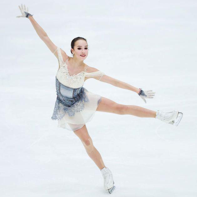 Alina Zagitova im Kurzprogramm Eiskunstlauf-Saison 2018-2019