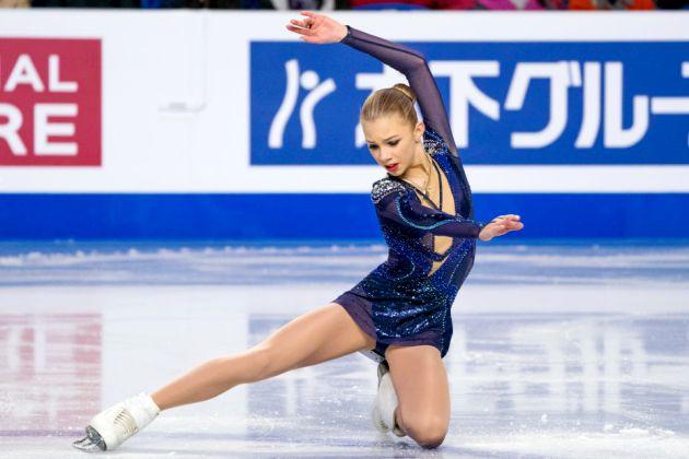 Alena Kanysheva 2018 im Kurzprogramm Finale Junior Grand Prix in Kanada