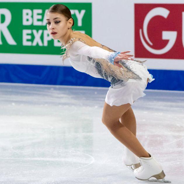 Alena Kostornaia 2018 im Kurzprogramm Finale Junior Grand Prix in Kanada
