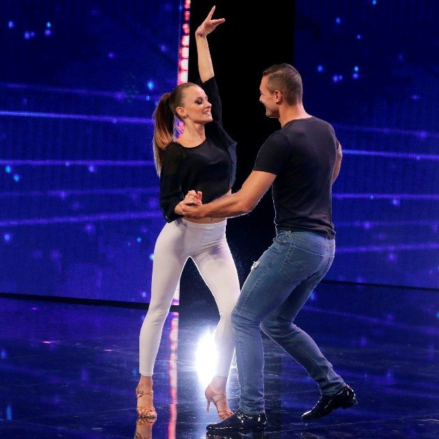 Andrea Bosonotto-Silvia Accossato Bachata-Tanzpaar beim Supertalent am 15.12.2018