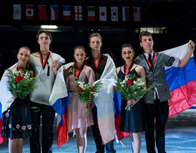 Eistanz Siegerehrung Junioren Grand Prix 2018