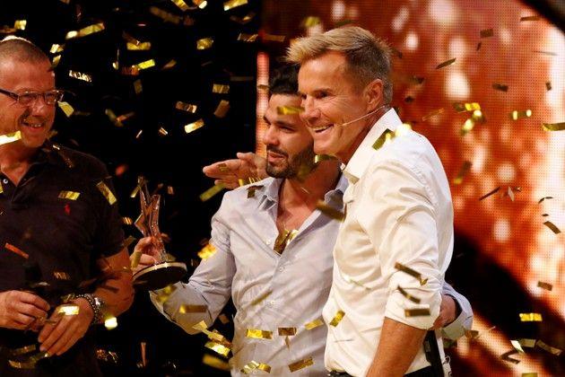 Lorenzo Sposato - Finale Supertalent am 22.12.2018 Kandidat mit Dieter Bohlen und Roberto Bottero