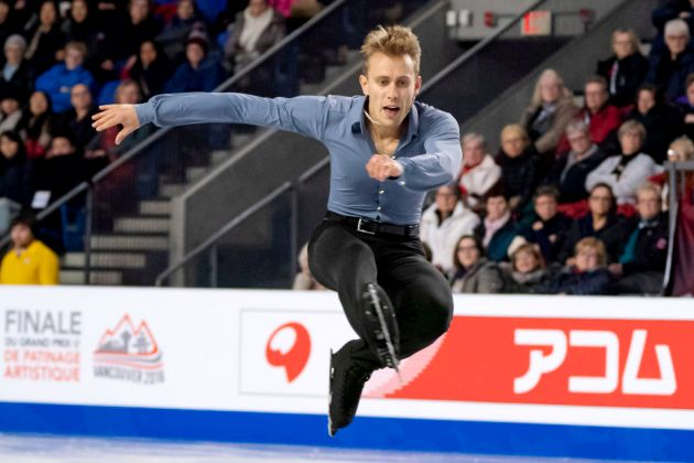 Michal Brezina 2018 im Kurzprogramm Finale Eiskunstlauf Grand Prix in Kanada