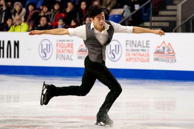Nathan Chen 2018 im Kurzprogramm Finale Eiskunstlauf Grand Prix in Kanada