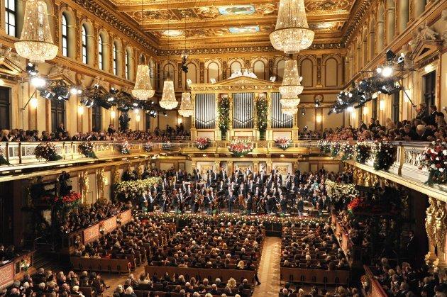 Neujahrskonzert der Wiener Philharmoniker im großen Saal des Wiener Musikvereins