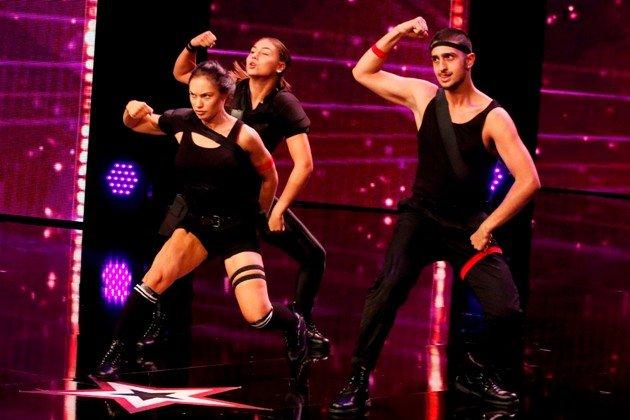 Tina Rusin beim Supertalent am 8.12.2018 und ihre Tänzer