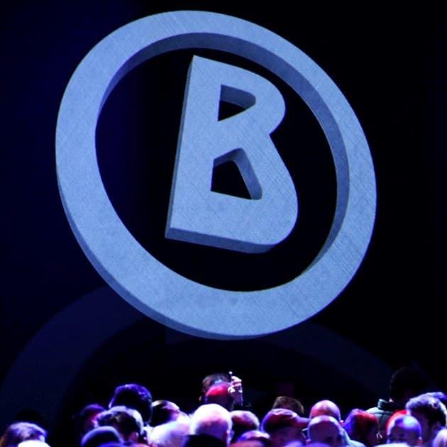 Bogner-Logo auf dem Runway zur MBFW Fashion Week Berlin 14.Januar 2019