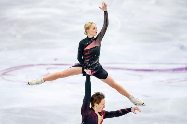 Evgenia Tarasova - Vladimir Morozov bei der Eiskunstlauf Europmeisterschaft 2019 in Minsk
