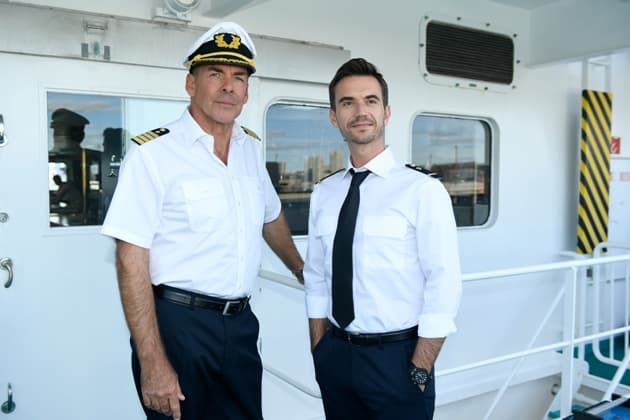 Florian Silbereisen mit Sascha Hehn beim Traumschiff