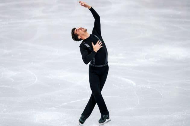 Javier Fernandez bei der Eiskunstlauf-EM im Kurzprogramm