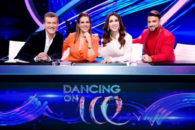 Jury Dancing on Ice am 6.1.2019 - Daniel Weiss, Katarina Witt, Judith Williams und Cale Kalay