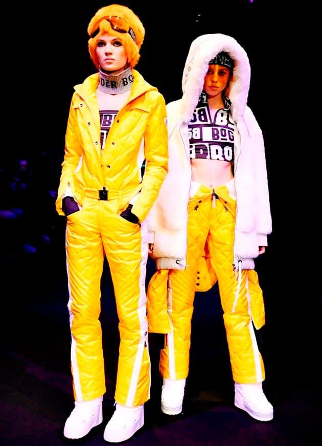 Lechtendes Gelb in der Ski- und Wintermode 2020 von Bogner