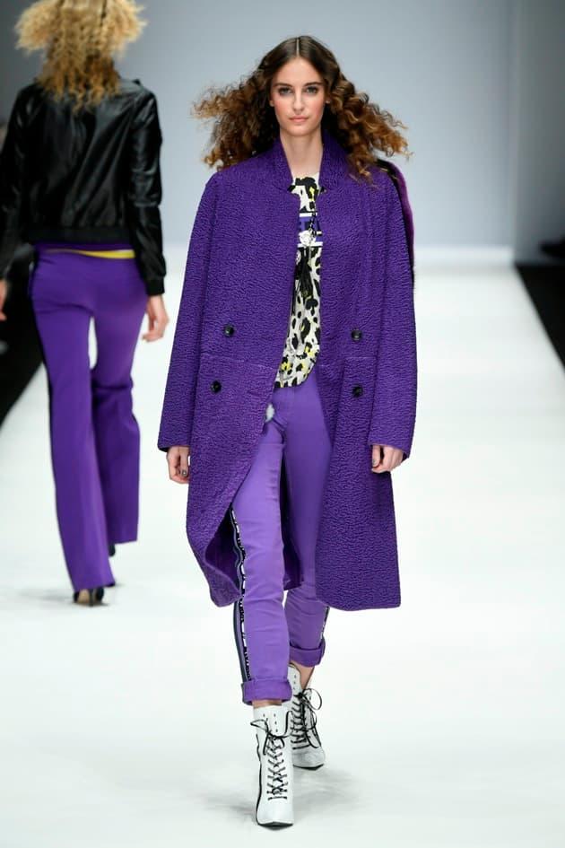 Lila - langer Mantel und Hose von Sportalm Mode Herbst 2019 - Winter 2020