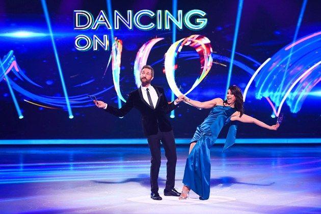 Marlene Lufen und Daniel Bochmann - Moderatoren bei Dancing on Ice am 6.1.2019