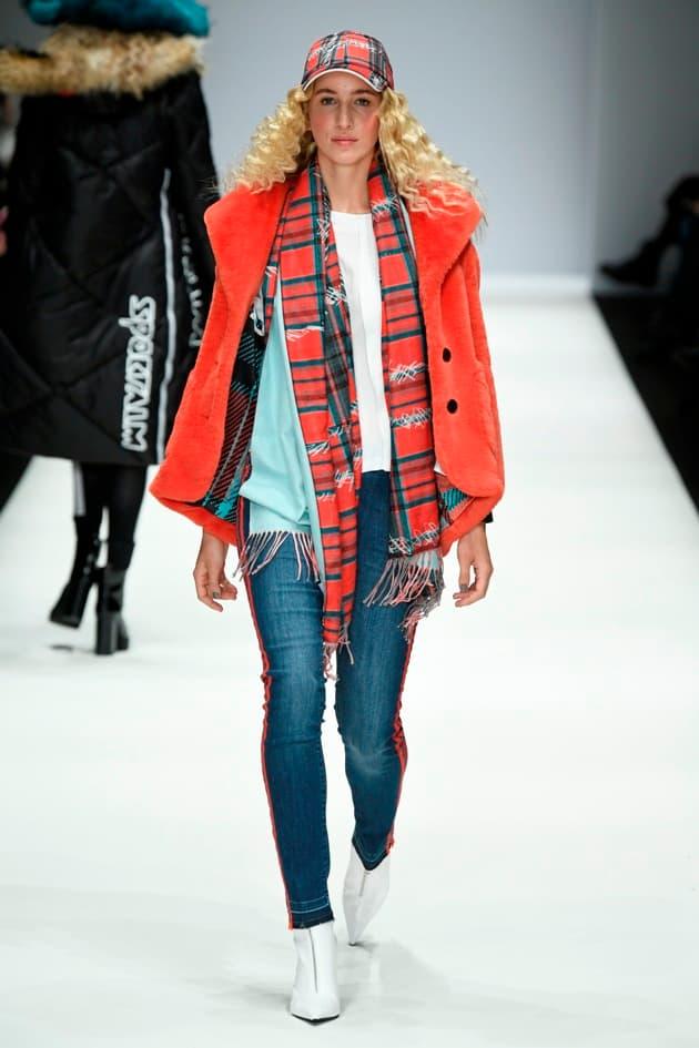 Modefarbe Coral im sportlichen Outfit von Sportalm Herbst 2019 - Winter 2020