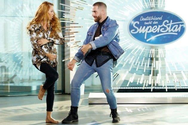 Oana Nechiti tanzt mit Kandidat Marcel Misini bei DSDS 2019 am 15.1.2019