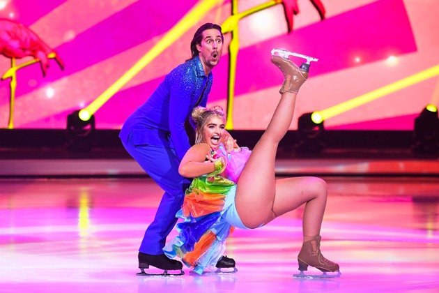 Sarina Nowak - David Vincour bei Dancing on Ice am 6.1.2019