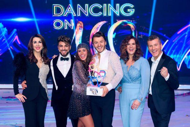 Dancing on Ice 2019 Jury und Sieger Judith Williams, Cale Kalay, Sarah Lombardi, Joti Polizoakis, Kati Witt, Daniel Weiss