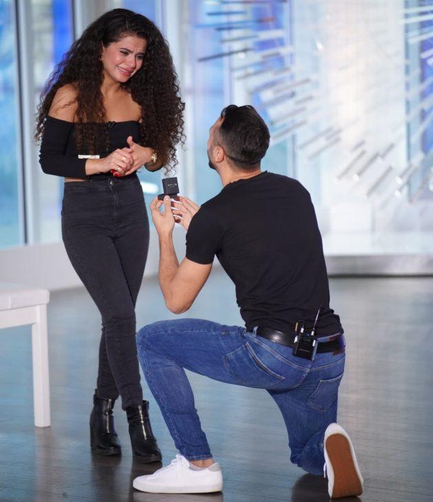 Heiratsantrag Georgios Jorgo Alatsas mit Freundin Bana Hamawandi bei DSDS am 16.2.2019