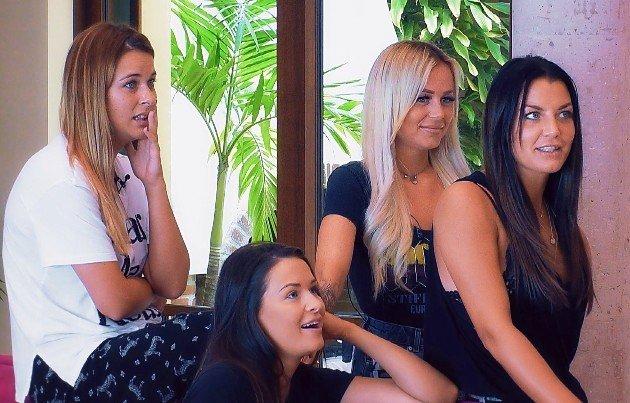 Nadine, Claudia, Jade und Steffi beim Bachelor am 6.2.2019