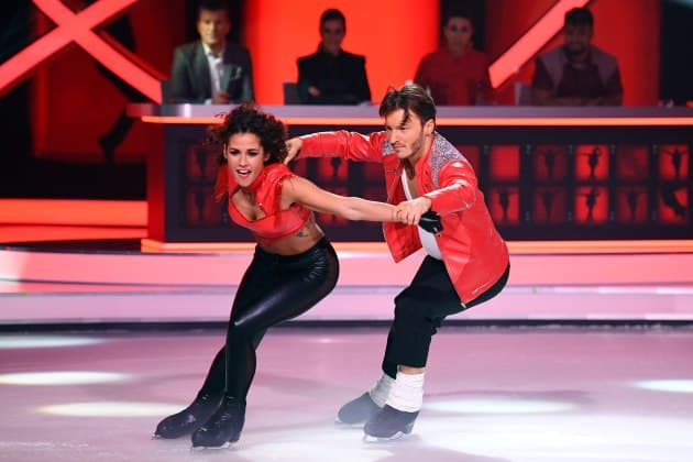 Sarah Lombardi - Joti Polizoakis bei Dancing on Ice am 3.2.2019