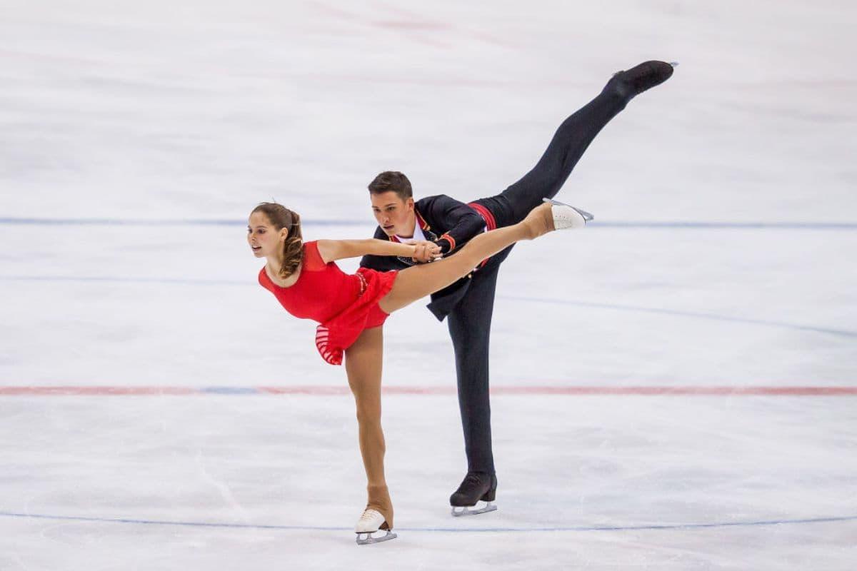 Anastasia Mishina Aleksandr Galliamov aus Russland - Eiskunstlauf-Junioren-WM 2019